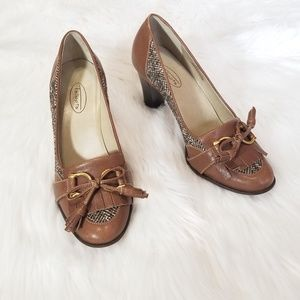 Talbots Heeled Brown Leather Loafer Size 8